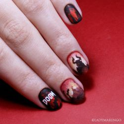 DOOM nails by ladymarengo
