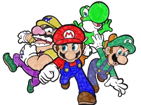 super mario 64 coloring pages - supermario64ds explore supermario64ds on deviantart