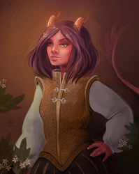 Commission: tiefling by Avvoula