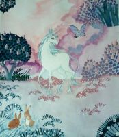 The unicorn and the butterfly by Feilan