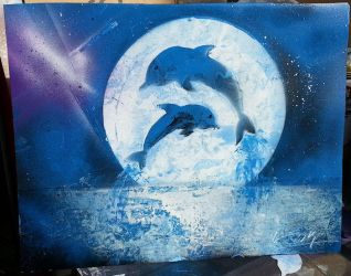 Raven's Dolphins by KhaosWolfKat