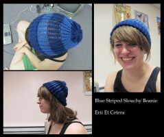 Commishie: Blue Slouchy Beanie by EriiEtCetera