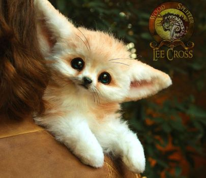 Sold, Poseable Baby Fennec Fox! by Wood-Splitter-Lee
