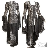 black lace waistcoat victorian steampunk romantic by SomniaRomantica