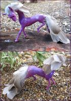 Feathered Fantasy Horse Sculpture FOR SALE by Ilenora