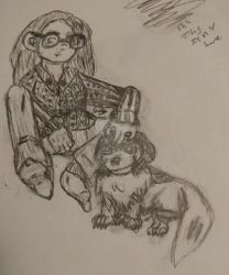 My Dog and I WIP by Le-Smittee