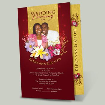 K and K wedding program by owdesigns