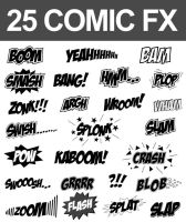 25 Comic Sound FX (Vector Set) by nadaimages
