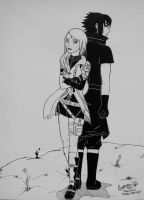 SasuSaku Month Day 27 - Final Fantasy by SofijaKpop18