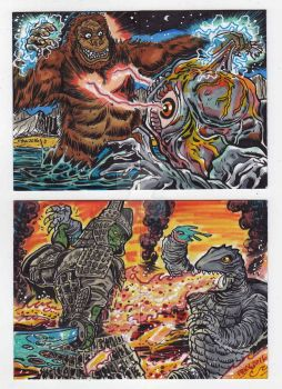 Kaiju Puzzle Kards by fbwash