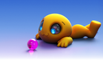 Zbrush Doodle: Day 1296 - The Gazing Sphere by UnexpectedToy