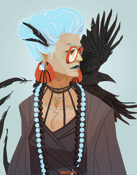 Raven Witch by FionaCreates