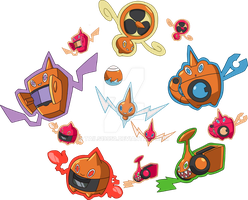 479 - Rotom - All Formes by Tails19950