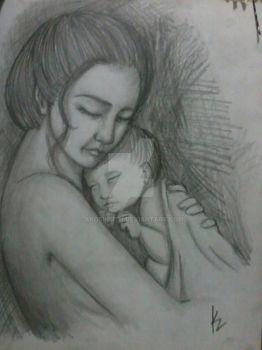 gift: mother and child by akosikeith