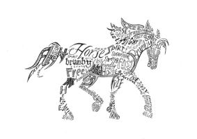 ConcretePoetry - Horse by Sarah902