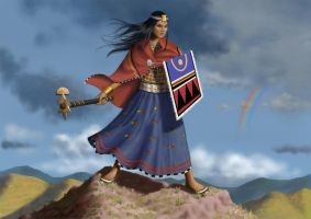 inca lady warrior by dofreal