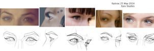 Eye Studies - Lines Persp by rattree