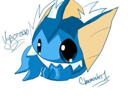 Vaporeon in GIMP by Chaomaster1