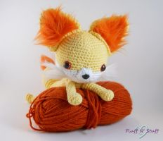 Fennekin Amigurumi by SailorMiniMuffin