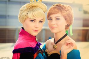 Anna and Elsa from Arendelle by TwinseyCosplay