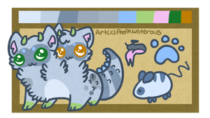:Ref sheet for Fox-Trot-Adopts(2): by PrePAWSterous