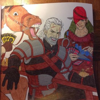 The Witcher Adult Coloring Book: Page 4 by SlugNasty