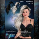 Spirit Painted Instant Hair STOCK PSD add on hair by MakeMeMagical