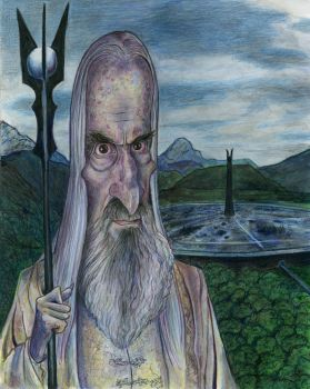 Christopher Lee as Saruman by Caricature80