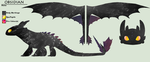 HTTYD: Obsidian Ref Sheet by CrimsonVampiress