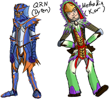 Tri-Hards Cast Colored - Pair 1 by Qrn103