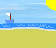 A boat on the beach by Supremechaos918