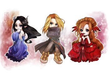 Elf, Assassin and Vampire by Archie-The-RedCat