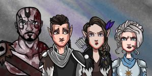 Critical Role - Grog, Vax, Vex, and Pike by AnthonyParenti