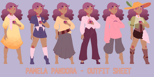 OC : pammie outfit ref by blindcosmos