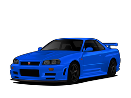 V - Nissan Skyline R34 Z-Tune by me-myself