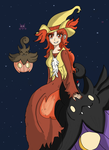 A Pokemon Halloween with Rowina by BroccoliSSJ3