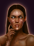 Character Design Portrait Repaint by NicolaHynes