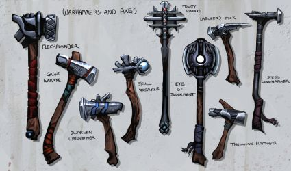 Warhammers and Axes by Balance-Sheet