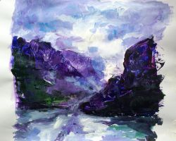 Purple Mountains by Annabellx