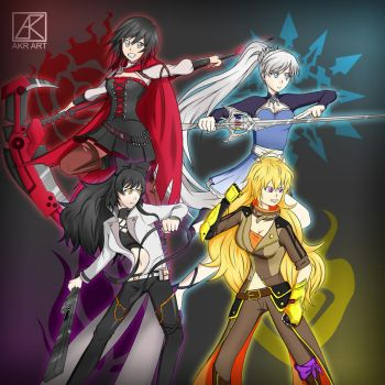 Team RWBY v2 by ArukoFanart
