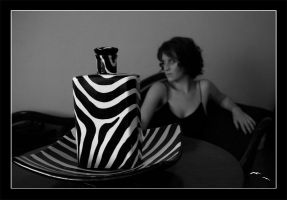 Pip With Zebra-print stilllife by spidercuffs