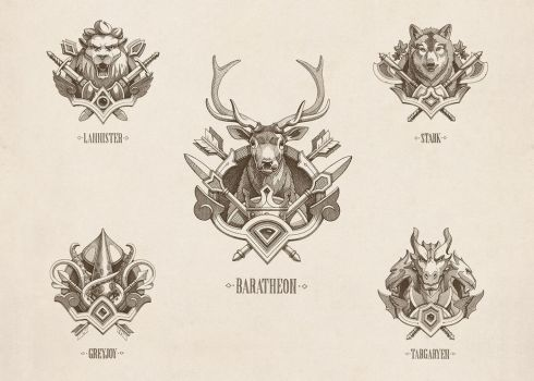 Game of Thrones - Emblems by NestStrix