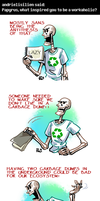 Undertale ask blog: gotta take out the trash by neonUFO