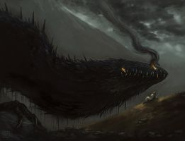 Glaurung and Nienor by rirth