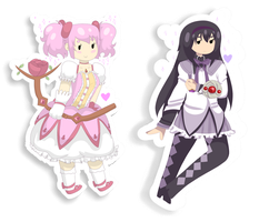 Madoka Magica Stickers by shortcakepng