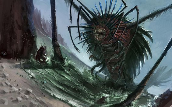 Water Colossus - The Lurker by slumberus