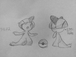 I drew Ralts by rith-sv