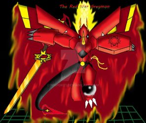 DIGIMON The Red War Greymon  Ultimate by nirpoke1