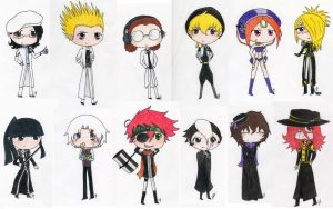 D. Gray-Man Chibis 2 by obsessionxalways