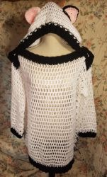 Black and White Kitty Boatneck Sweater by TwoTailCreations